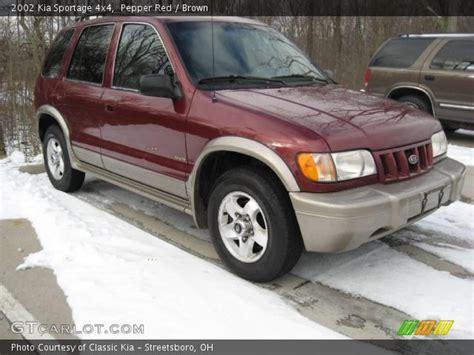 2002 Kia Sportage 4x4 Pepper 2002 Kia Sportage 4x4 Brown Interior