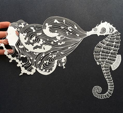 Paper Artists - meticulously cut paper illustrations by maude white colossal