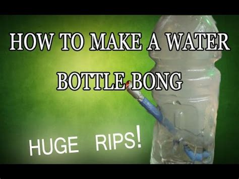 how to make a water bottle bong home made youtube