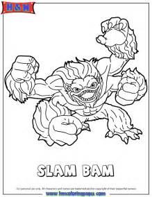 Skylanders spyros adventure water series1 slam bam coloring page