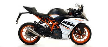 Ktm Apparel Usa Nichrom Pro Race Exhaust Slip On By Arrow Ktm Rc390