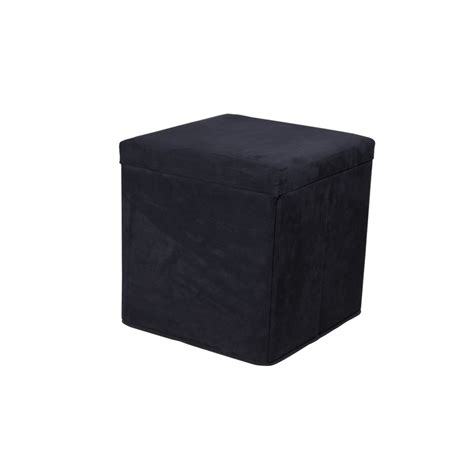 Black Storage Ottoman Shop Linon Black Square Storage Ottoman At Lowes