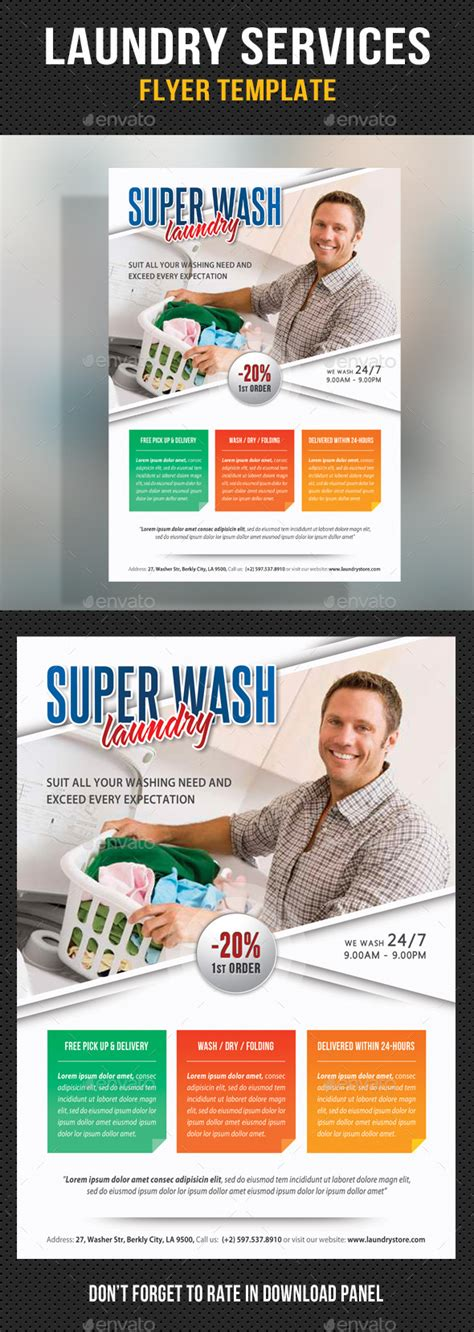 laundry flyers templates laundry services flyer template v03 by rapidgraf