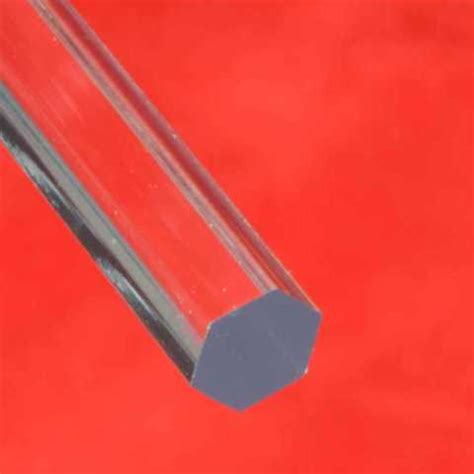 Acrylic Rod 8mm hexagon rod 8mm ap15 the one stop plastics shop ltd