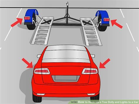 how to hook up a tow dolly and lights to a car with pictures