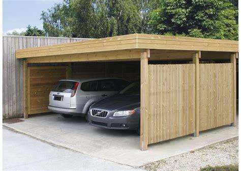 Carport 2 Voitures 593 by Gardival Carport 593 X 665 Kopen Garaż