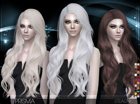 sims 4 cc hair stealthic prisma female hair