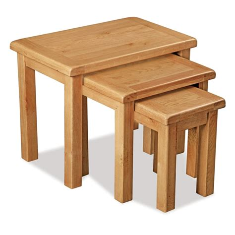 Three Tables by Oak Nest Of 3 Tables
