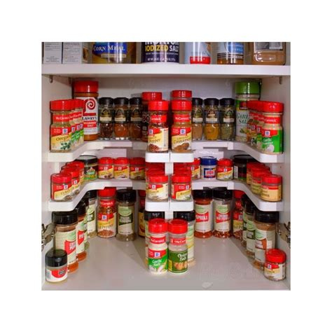 Kitchen Island With Legs Spicy Shelf Patented Spice Rack And Stackable Organizer