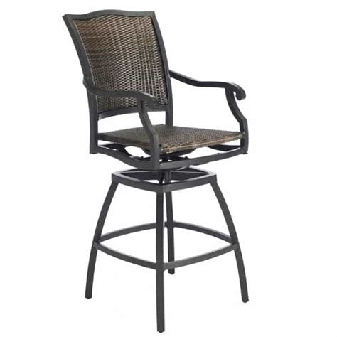 new mojave commercial outdoor aluminum resin wicker bar the plaza woven wicker outdoor bar stool summer classics