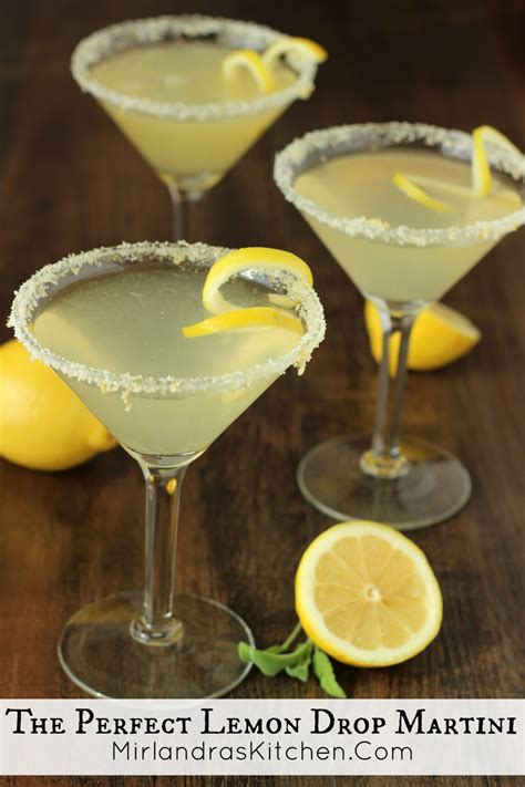 martini perfect lemon drop martini recipe dishmaps
