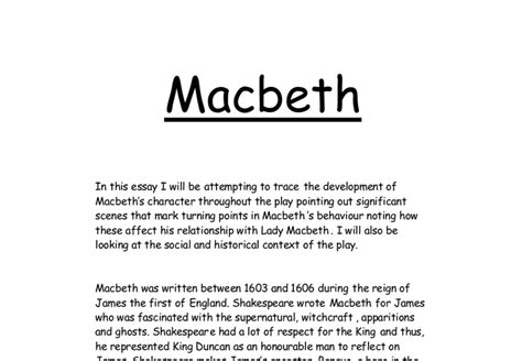 macbeth sle essays essay structure macbeth macbeth essay how i write an