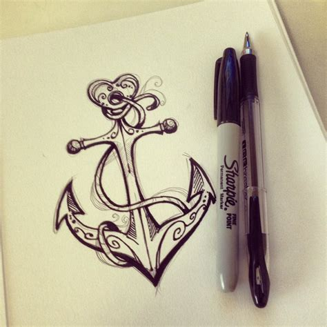 crazy heart anchor tattoo design tattooshunt com