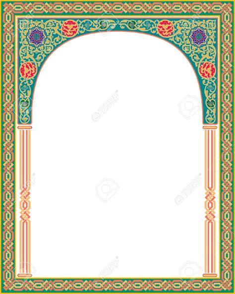 set of arabesque pattern frame border islamic arabesque style border frame with flourish