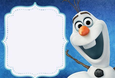 printable olaf birthday card frozen birthday invitations free printable templates 2018
