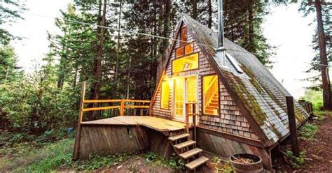 a frame cabin in the woods cozy homes