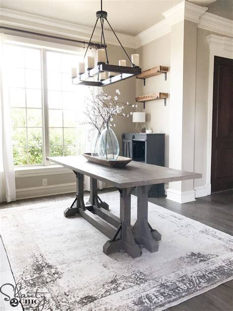 shanty to chic farmhouse table diy industrial corbel farmhouse table shanty 2 chic