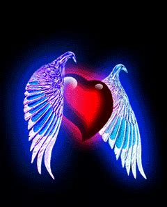 great animated winged heart gifs   animations
