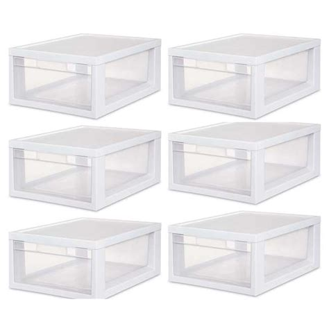sterilite single drawer storage sterilite medium modular stacking storage drawer single