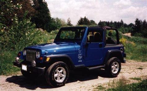 Blue Jeep Tj Super Blue 1999 Jeep Tj Specs Photos Modification Info