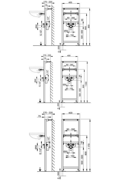 Waschbecken Ohne Wasseranschluss 5235 by Waschbecken Vorwandelement A104 Waschtisch H 228 Nge