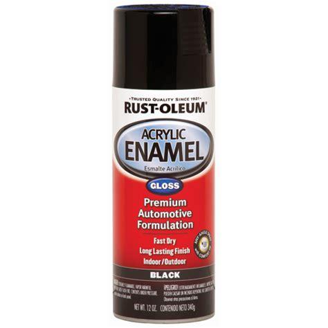 12 Oz Rust Oleum 174 Gloss Black Acrylic Enamel Spray Paint