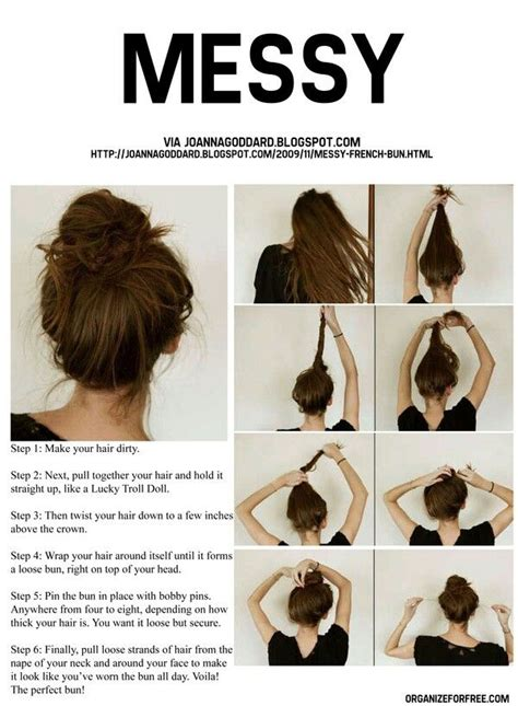 25  best ideas about Quick Messy Bun on Pinterest   Messy hair buns, Messy bun and Quick updo