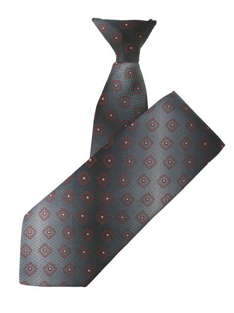 grey pattern tie multi tone grey square patterned clip on tie elegant extras