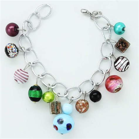 murano glass charm bracelet venetian bracelet glass of