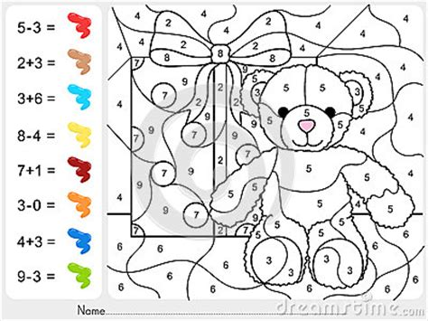 common worksheets 187 subtraction color by number worksheets preschool and kindergarten worksheets