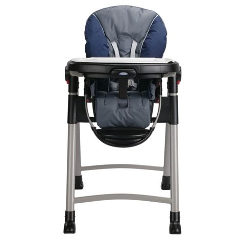 graco contempo folding high chair graco 1918633 contempo baby high chair in midnight blue ebay