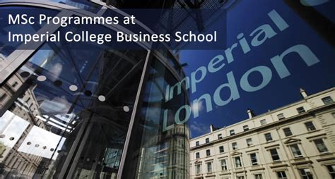 Imperial College Global Mba Ranking by Msc Programmes At Imperial College Business School At