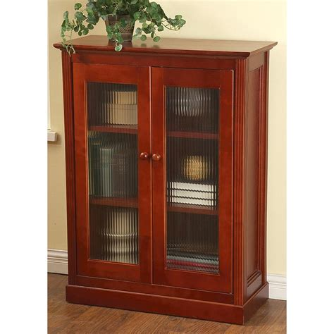 Front Door Cabinet Glass Front Door Cabinet Cherry 161749 Living Room At Sportsman S Guide