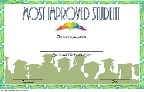 most improved certificate template most improved student certificate 10 template ideas