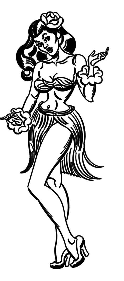 hula girl doll drawing www pixshark com images