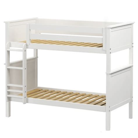 White Wood Bunk Beds White Wooden Bunk Bed Size Hardwood Bunk Bed