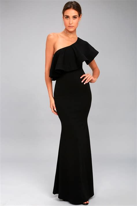 One Shoulder Maxi Dress lovely black dress one shoulder dress maxi dress