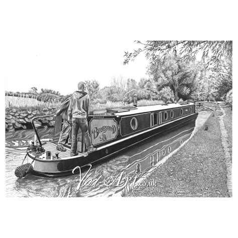 boat pencil drawing image burneswood canal boat pencil drawing by vlad art