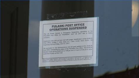 Reasons I The Postal Service by Usps Closes Pulaski Post Office Citing Safety Reasons