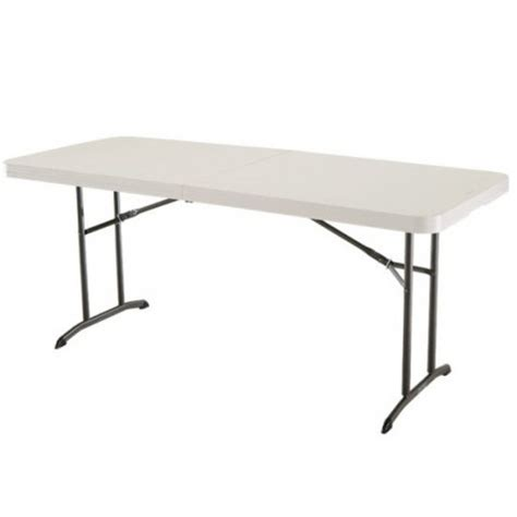 lifetime fold in half table lifetime 6 ft commercial fold in half table with handle