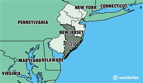 us area code new jersey nj area code map my