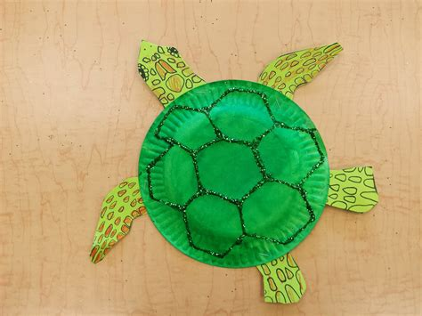 Turtle Paper Plate Craft Template - paper plate sea turtle free template