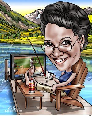 Retirement Caricature Drawing