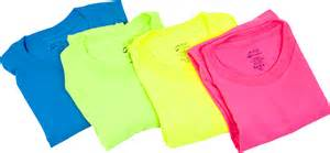 neon colored shirts decorating your own t shirt and dressing for