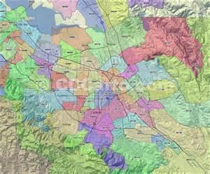 san jose ca map by zip code san jose zip codes santa clara county zip codes