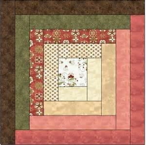 traditional log cabin quilt block pattern adobe