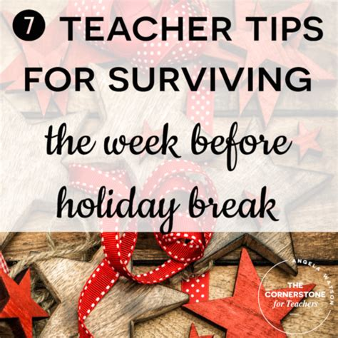 8 Tips For Surviving The Season by 7 Tips For Surviving The Week Before