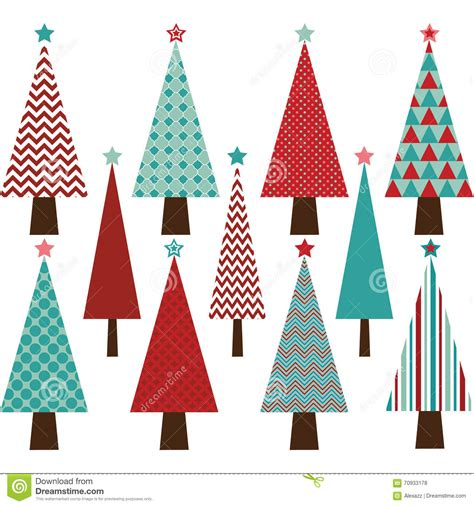 christmas tree collection stock vector image 70933178