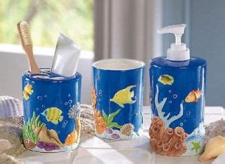 Bathroom Accessories Fish Theme Tropical Fish Bathroom Rug Bath Mat Toilet Lid Decor Nu