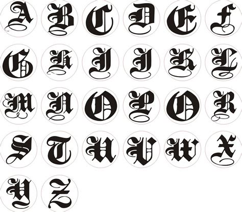 Letter In Different Styles alphabet different style lettering styles and fonts